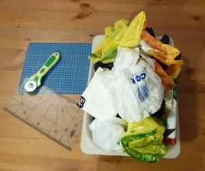 подготовка пакетов для коврика