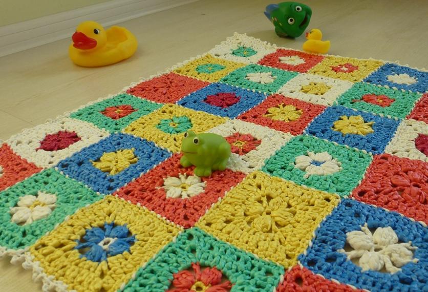 вязание коврика в ванную из полиэтиленовых пакетов