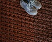 Прямоугольный коврик крючком