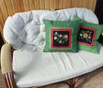 подушка зеленая