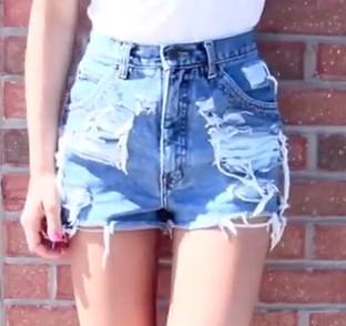 Как переделать шорты или джинсы