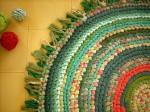 коврик в зеленых тонах