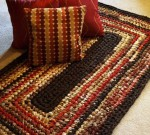 коричневый прямоугольный коврик