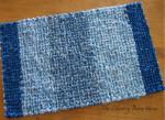 сине-голубой коврик